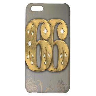 caja de la mota del número 66 del oro del Victoria