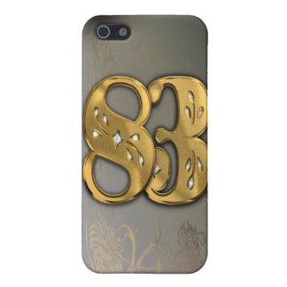caja de la mota del número 83 del oro del Victoria iPhone 5 Funda