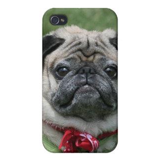 Caja de la mota del perro del barro amasado para e iPhone 4/4S funda