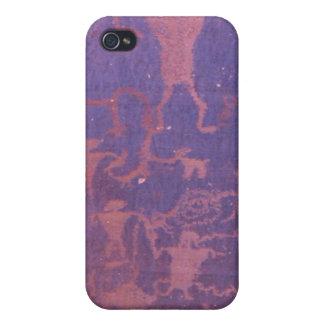 Caja de la mota del petroglifo iPhone 4 fundas