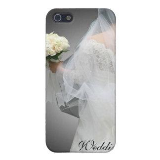 Caja de la mota del planificador del boda iPhone 5 carcasas