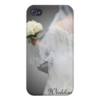 Caja de la mota del planificador del boda iPhone 4 fundas