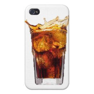 Caja de la mota del ron y de la cola iPhone 4 protectores