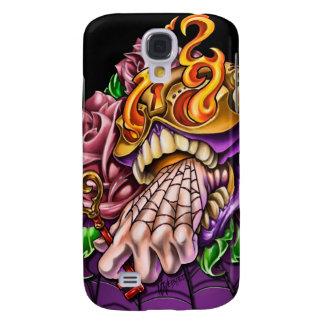 Caja de la mota del tatuaje iPhone3g del cráneo de Funda Para Galaxy S4