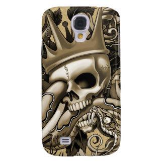 Caja de la mota del tatuaje iPhone3g del cráneo Funda Para Galaxy S4