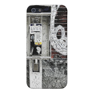 caja de la mota del teléfono público de la pintada iPhone 5 protectores