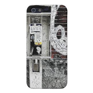 caja de la mota del teléfono público de la pintada iPhone 5 carcasas