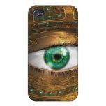 Caja de la mota del vigilante iPhone 4 coberturas
