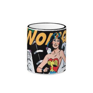 Caja de la Mujer Maravilla de 3 condenaciones Taza De Dos Colores