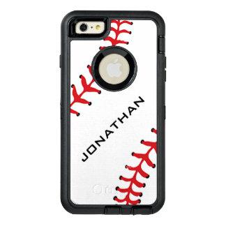 Caja de la nutria del diseño del béisbol funda OtterBox defender para iPhone 6 plus