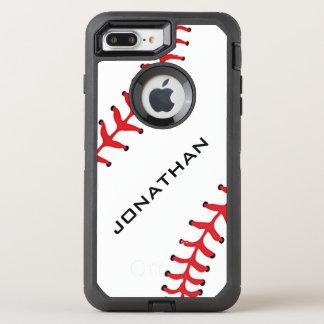 Caja de la nutria del diseño del béisbol funda OtterBox defender para iPhone 7 plus