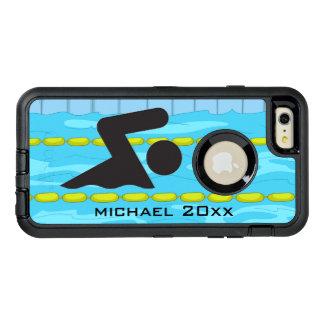 Caja de la nutria del diseño que nada funda OtterBox defender para iPhone 6 plus