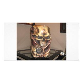 Caja de la PC del cráneo Tarjeta Fotográfica Personalizada