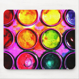 Caja de la pintura de la acuarela del artista tapetes de ratón