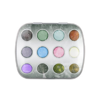 Caja de la pintura de la acuarela frascos de caramelos
