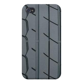 Caja de la pista del neumático iPhone 4 funda