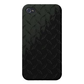 Caja de la placa iPhone4 del diamante negro iPhone 4 Protectores