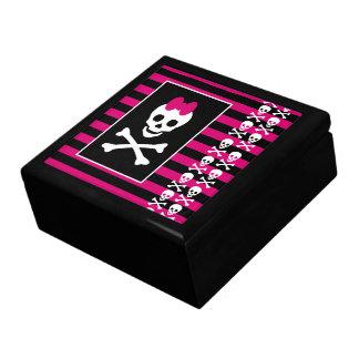 Caja de la princesa joyería del cráneo de Emo Caja De Recuerdo