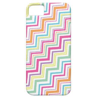 Caja de la raya iPhone5 de Chevron del color del c iPhone 5 Case-Mate Cárcasa