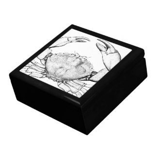 Caja de la receta del cangrejo caja de regalo cuadrada grande