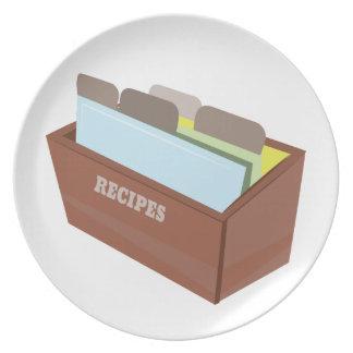 Caja de la receta platos para fiestas