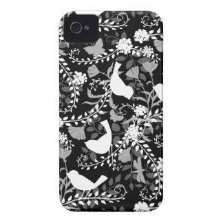 Caja de la SILUETA II Blackberry del PÁJARO iPhone 4 Case-Mate Cárcasas