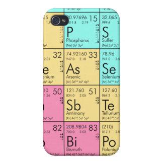 Caja de la tabla periódica para iPhone4 iPhone 4/4S Funda