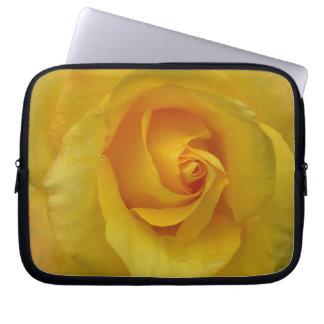 Caja de la tableta del rosa amarillo de la manga d mangas computadora