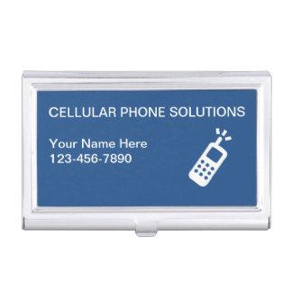 Caja de la tarjeta de visita del teléfono móvil caja de tarjetas de visita