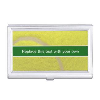 Caja de la tarjeta de visita del tenis cajas de tarjetas de presentación