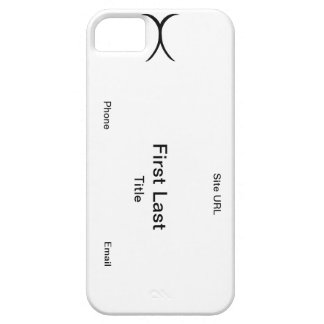 Caja de la tarjeta de visita iPhone 5 funda