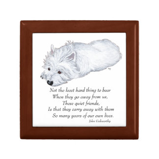 Caja de la teja de Terrier blanco de montaña del o Caja De Joyas