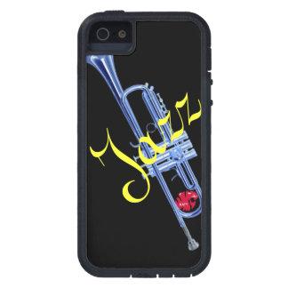 Caja de la trompeta de Katy del jazz iPhone 5 Case-Mate Cobertura