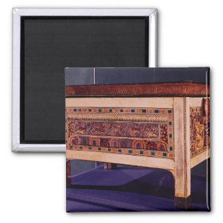 Caja de la tumba de Tutankhamun Imanes De Nevera