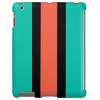 Caja de la turquesa, anaranjada y negra del iPhone