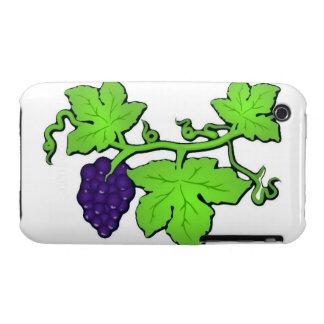 Caja de la vid de uva iPhone 3 Case-Mate cárcasa