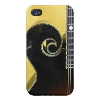 Caja de la voluta 4 de la mandolina iPhone 4 funda