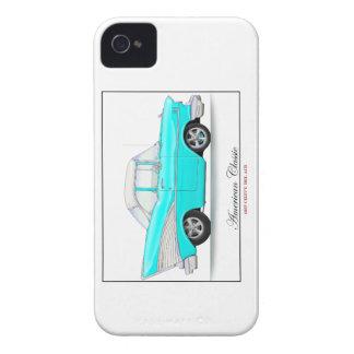 Caja de la zarzamora de Chevy del azul 57 Case-Mate iPhone 4 Protector