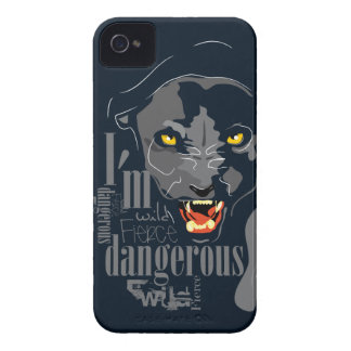 Caja de la zarzamora de la pantera negra carcasa para iPhone 4 de Case-Mate