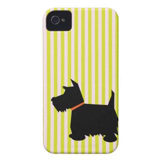 Caja de la zarzamora de la silueta del perro de Case-Mate iPhone 4 cárcasas