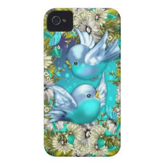 caja de la zarzamora del bluebird iPhone 4 protector