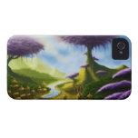 caja de la zarzamora del paisaje de la fantasía de iPhone 4 cobertura
