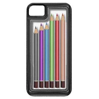 Caja de lápices coloreados iPhone 5 Case-Mate funda