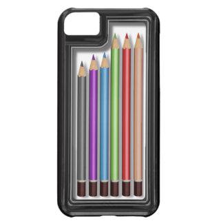 Caja de lápices coloreados