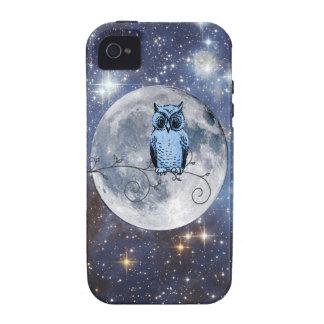 Caja de las estrellas de la Luna Llena del búho Case-Mate iPhone 4 Carcasas