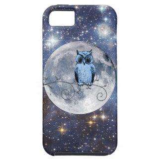 Caja de las estrellas de la Luna Llena del búho iPhone 5 Protector