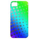 Caja de las estrellas del arco iris iPhone 5 carcasas