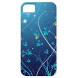 caja de las flores del azul de océano del iphone 5 iPhone 5 funda