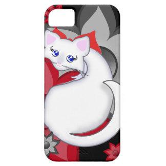 Caja de las flores del pétalo del gatito de Bianca iPhone 5 Carcasa