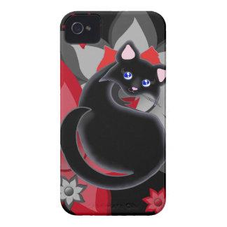 Caja de las flores del pétalo del gatito de KIara iPhone 4 Case-Mate Funda